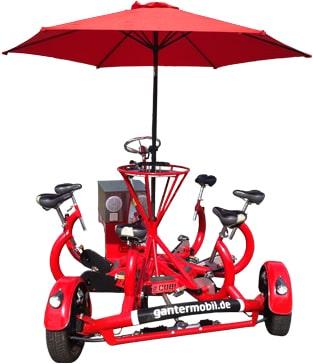 Conference Bike mit Schirm